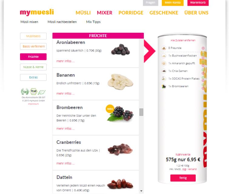 Was Banken von mymuesli.com lernen können.